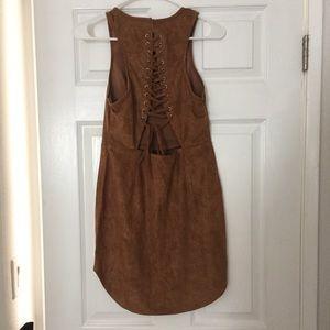 LF Suede Tie Up Dress NWOT
